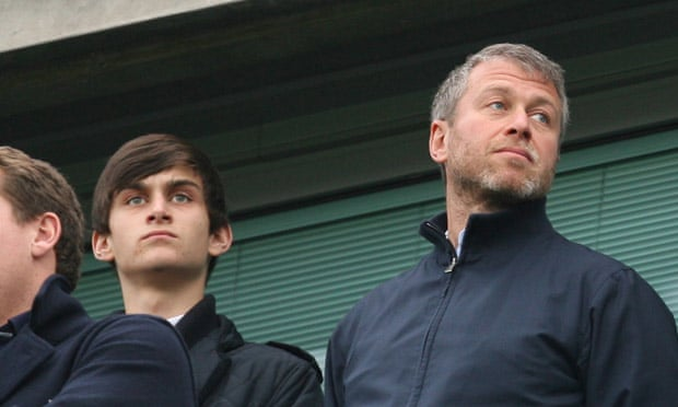 Arkadiy and Roman at a Chelsea game in 2011.