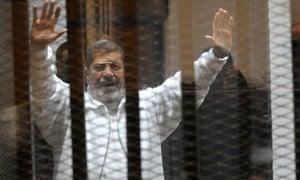 Egypt's Islamist former president Mohamed Morsi in court