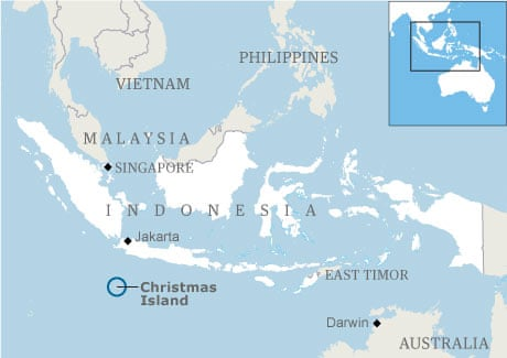 Christmas Island Australia  city photos : ... sinks off Australia's Christmas Island | Australia news | The Guardian