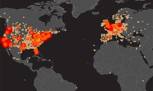 The Zombie Map Of The World News The Guardian