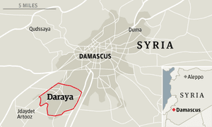 Daraya大屠杀地图
