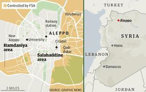 叙利亚阿勒颇控制地图