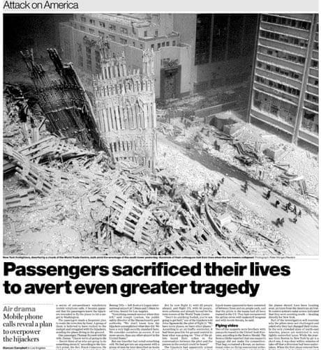 September 11 2001 Newspaper Articles