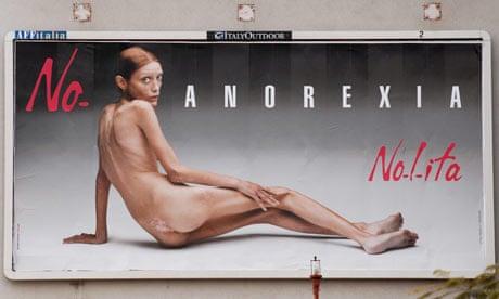 Anorexia billboard campaign by fashion brand Nolita