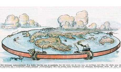 Gambar / ilustrasi bumi datar pada masa lalu