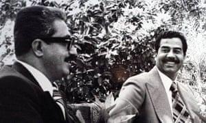 Tariq Aziz with Saddam Hussein
