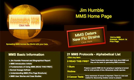 Jim Humble's MMS homepage (screen grab)
