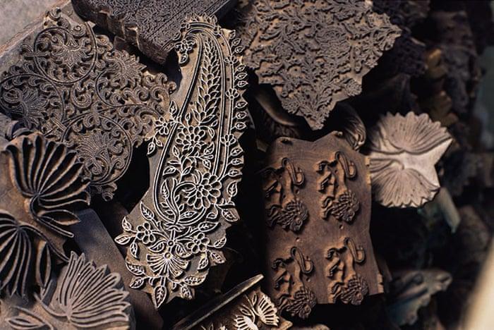 Paisley minta - textil nyomóforma