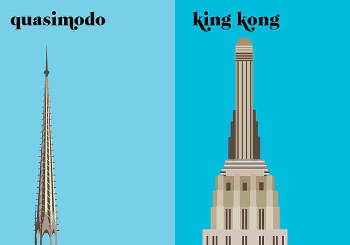 Paris V. New York: Quasimodo/King Kong