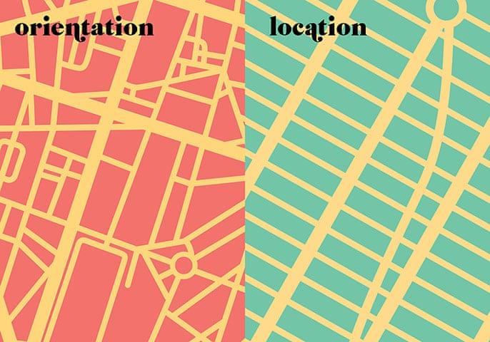 Paris V. New York: orientation / location