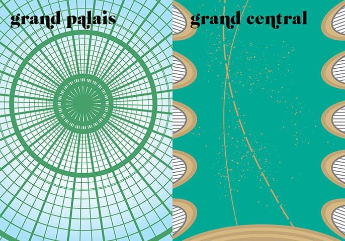 Paris V. New York: grand palais / grand central