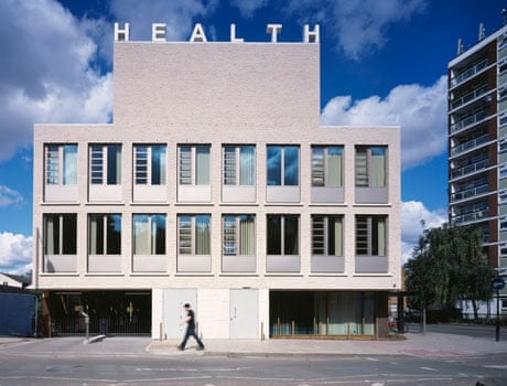 south elevation, showing how the building reads as a giant phramacy ...