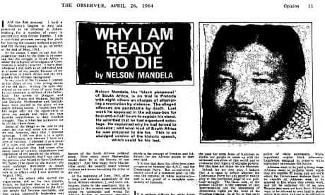 the rivonia trial speech Digitized recordings of the rivonia trial of anti-apartheid leader nelson mandela in south africa are to be released.