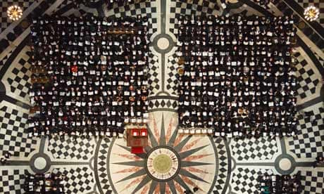 Guests take their seats at St Paul's Cathedral. Photograph: Dominic ...
