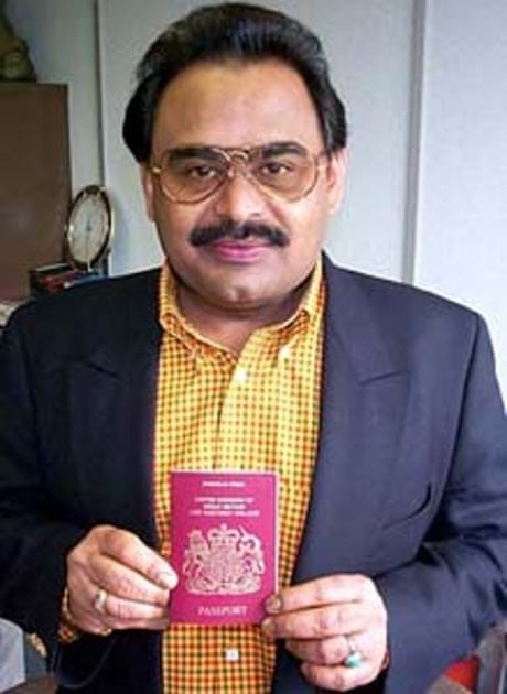 Altaf Hussain with his British passport, granted in 2002 - Altaf-Hussain-with-his-Br-001