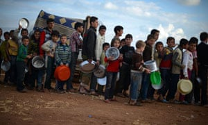 Internally displaced Syrian youths