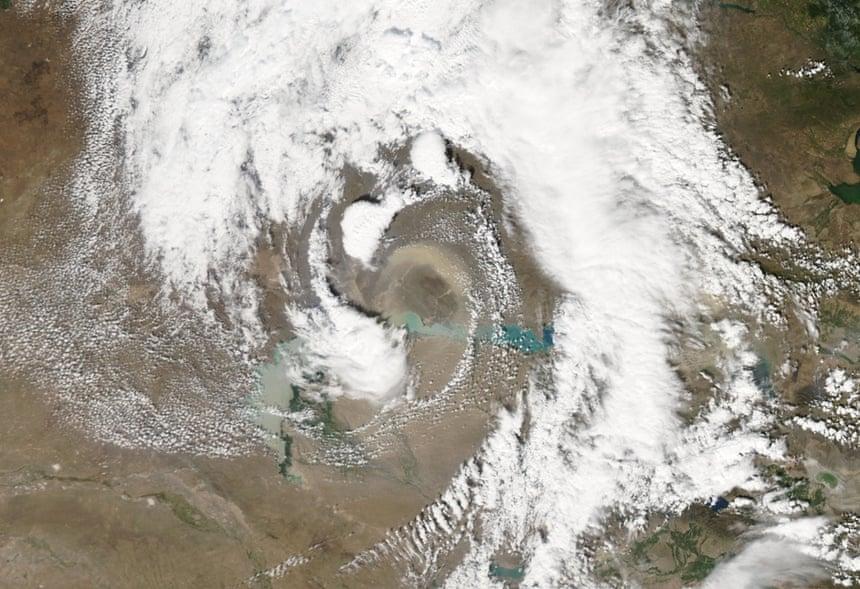 tormentas de polvo pesadas plagados Kazajstán.