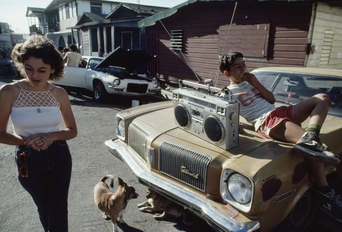 Teenagers hang out in the La Perla slum, San Juan, Puerto Rico 1983