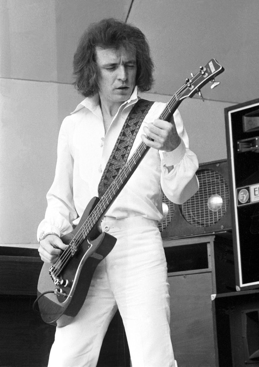 Bruce with his bass guitar