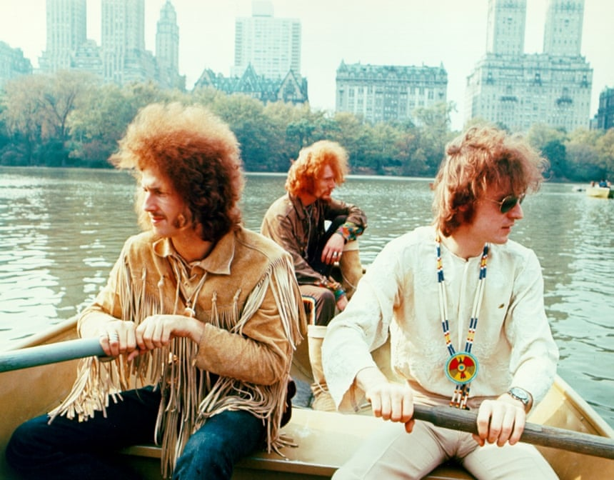Cream on a boat in Central Park, New York, 1968