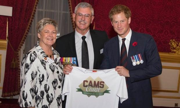 Doug and Kaye Baird with Prince Harry