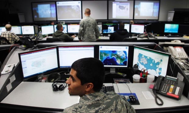 Air Force Space Command Network Operations & Security Center at Peterson Air Force Base in Colorado Springs cybersecurity cyberwar cybercrime hacking
