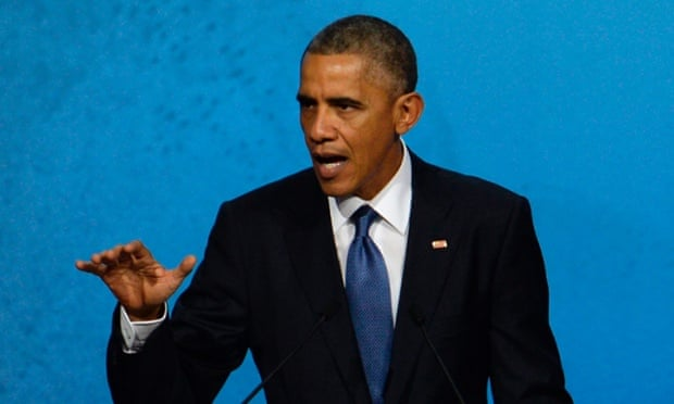 Obama at a summit in China.