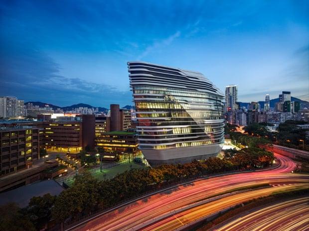 برج Jockey Club Innovation، هنگ کنگ، ساختمان جدید دانشگاه پلیتکنیک