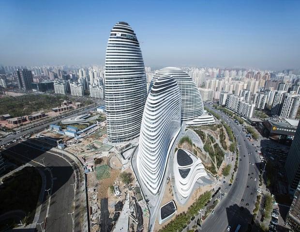 ساختمان Wangjing SOHO (پروژه زاها حدید)، پکن، چین