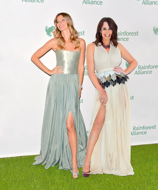 Lucy Siegle with Gisele Bundchen at the American Museum of Natural History on 7 May 2014.