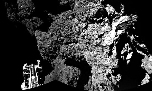 Probe on comet