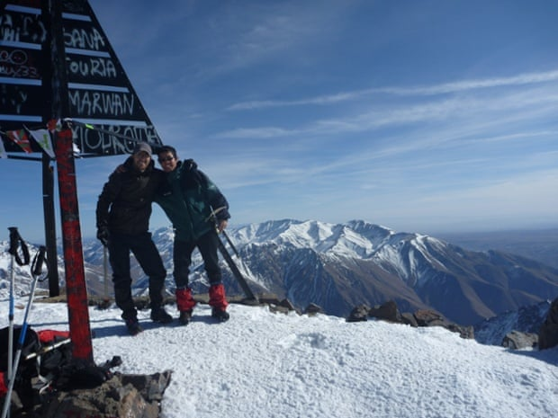 At the summit of Jebel Toubkal.