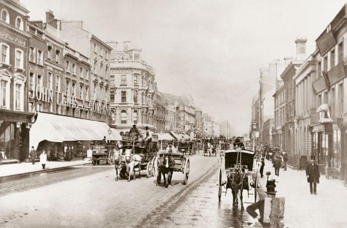 The first John Lewis store on Oxford Street, London 1864. Photograph: John Lewis/PA