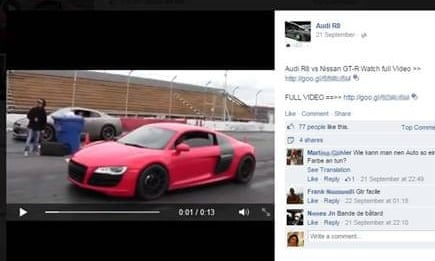 If you see a competition to win a free Audi R8 on Facebook, be very wary.