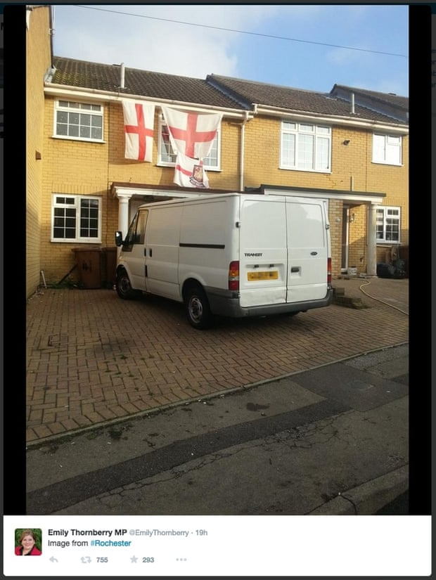 White van man with English flags