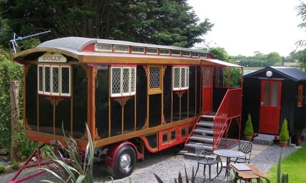 Circus wagon, near Llangrannog, Ceredigion, Wales