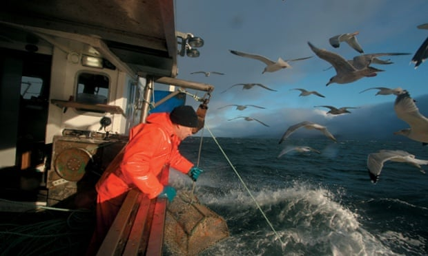 Fishing off the Scottish coast