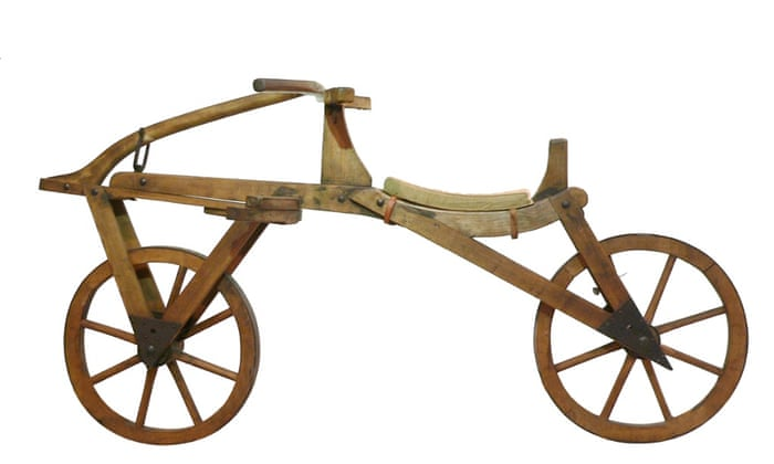 The Draisienne (1817) Arguably the most important development in the early history of cycling, Karl von Drais's two-wheeled wooden bike featured iron tyres and a steerable front wheel – but no pedals. Photograph: © Joachim Köhler/PR