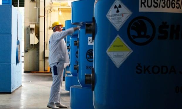 A última de urânio altamente enriquecido da Bulgária está sendo preparado para a remoção, em 2008.