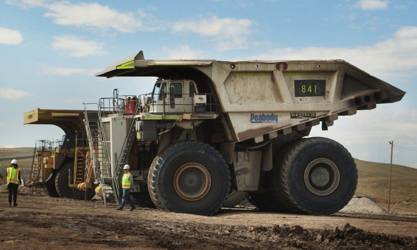A truck That can holds more than 440 tons of coal at Peabody Energy North Antelope Rochelle coalmine, north of Douglas, Wyoming, US, October 2014