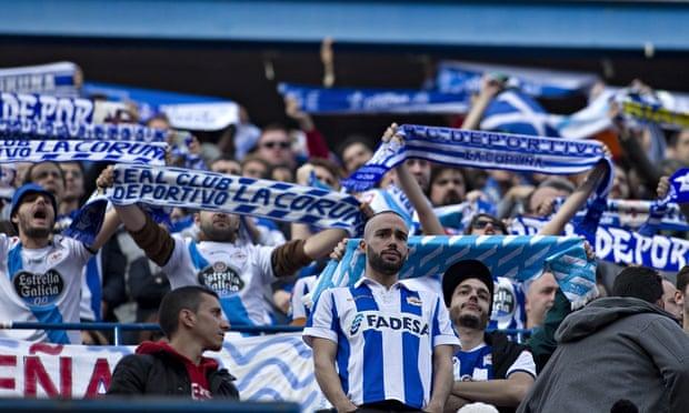 Deportivo de la Coruña fans at Atlético