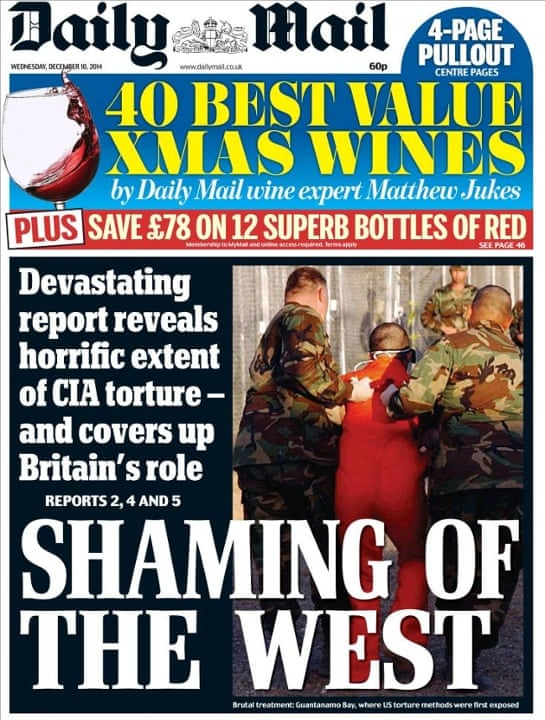 Daily Mail Front Page - Shaming of the West