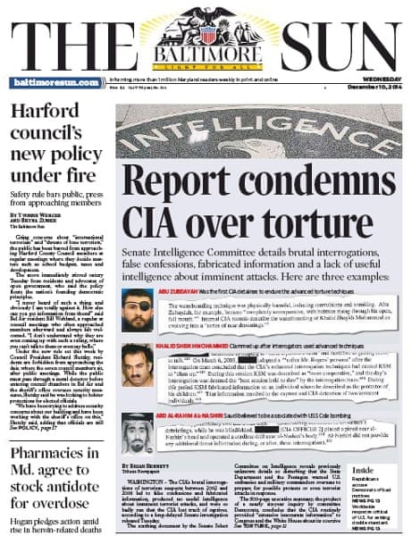Baltimore Sun - Report condemns CIA over torture