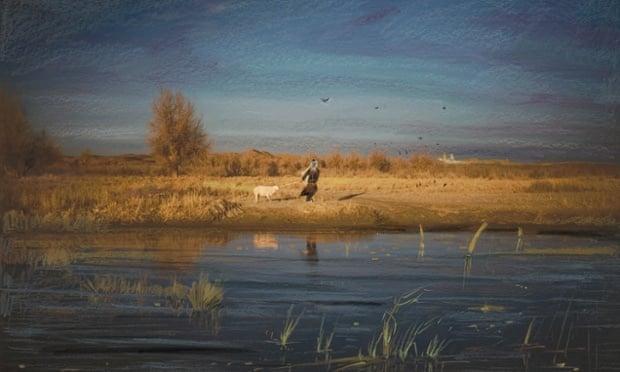 这块厚重的土地——中国,新疆,克里雅河。摄影:Carolyn Drake