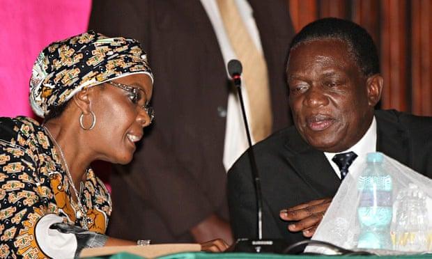 Grace Mugabe and Emmerson Mnangagwa