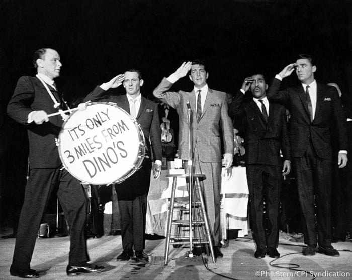 The Rat Pack: Frank Sinatra, Joey Bishop, Dean Martin, Sammy Davis Jr. and Peter Lawford, 1954.