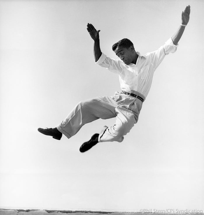 Sammy Davis, Jr. dancing on a Hollywood rooftop, 1947