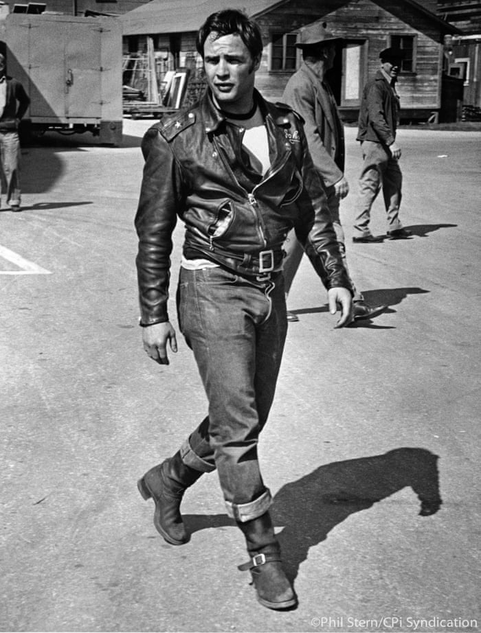 Marlon Brando during the filming of The Wild One, 1954