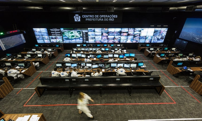 Rio de Janeiro's centre of operations: 'a high-precision control panel for the entire city'.