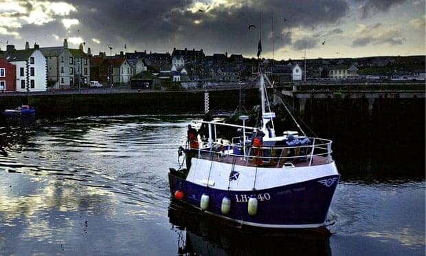 Small fishing trawler, Eyemouth harbour, Scottish Borders
